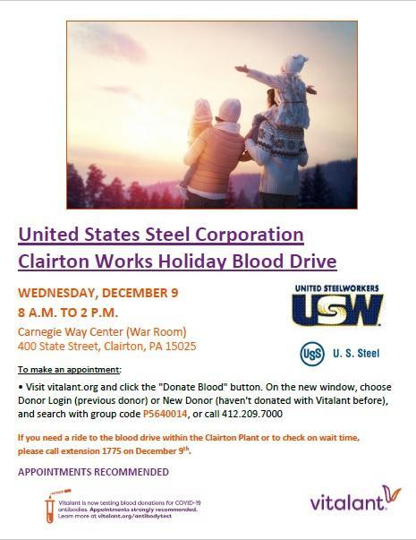 Clairton Blood Drive